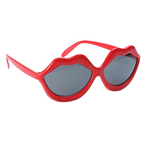 Homyl Fashion Red Lip Shaped Glasses Wedding Bar Performance Cosplay Hen Night Eye Wear Sunglasses Photography Props