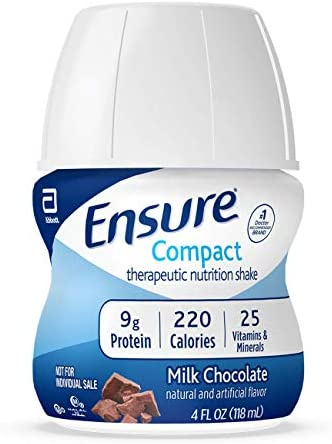 Ensure Nutrition Shake, 9g of Protein, Milk Chocolate, 4 fl oz, 24 Count