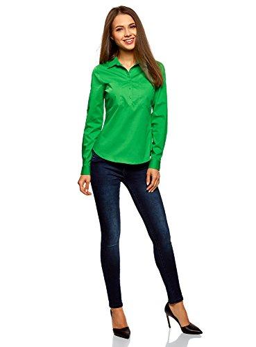 Vert oodji 6a00n avec Ultra Chemise Poitrine de Poches Basique Femme q8wOWCqa
