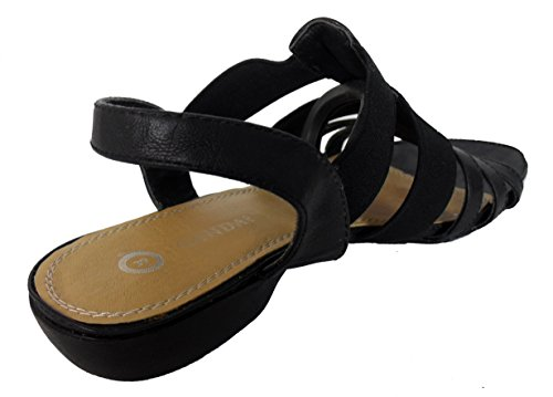 Sandal Open Faux Cream Ladies Gladiator Cookies Summer Leather Toe Elasticated and Beach Flat n16OxxwBg