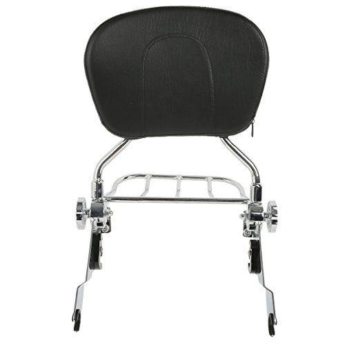 chrome Adjustable Backrest Sissy Bar W/Luggage Rack For Harley Touring Road Glide 09-18 (5-7 Days Ships from the CA, US)