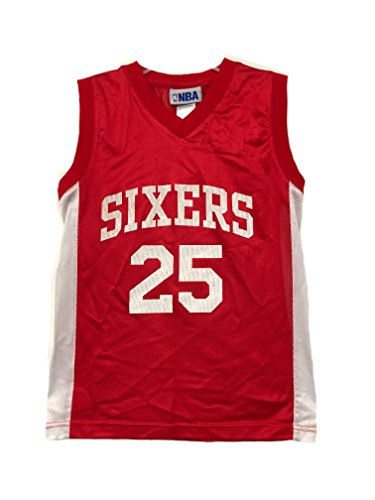 OuterStuff NBA Boys Youth 8-20 Player Name & Number Mesh Replica Jersey (Youth Medium 10-12, Philadelphia 76ers Ben Simmons (76ers Youth Jersey)