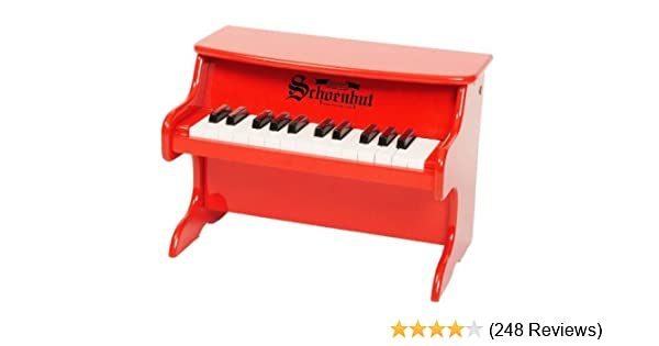 Amazon Schoenhut 25 Key My First Piano Ii Red Toys Games