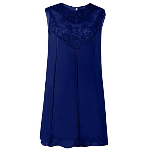 Falda Puro Vestido Marino Mangas Mujeres Trapeze Ocasional Mini Elegante Adeshop cuello Suelta O Vestido Azul Costura Sin Gasa Color qH6ZBxBYgn