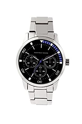 Geoffrey Beene Men's GB8078GDBKNV Analog Display Japanese Quartz Black Watch