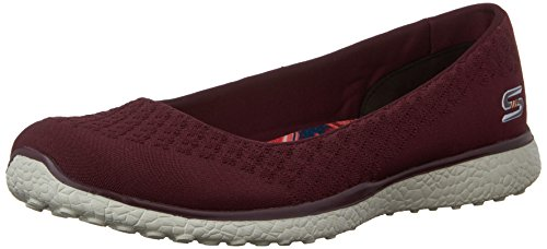 Skechers Microburst One Up Womens Slip On Skimmer Sneakers Burgund