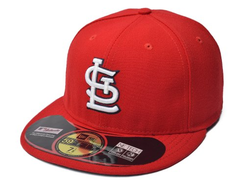New Era 5950 Home Cap - MLB St. Louis Cardinals Authentic On Field Home 59FIFTY Cap, 7 3/4