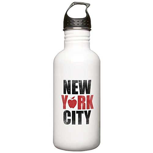 CafePress - New York City Stainless Water Bottle 1.0L - Stainless Steel Water Bottle, 1.0L Sports (Identity Stainless Water Bottle)