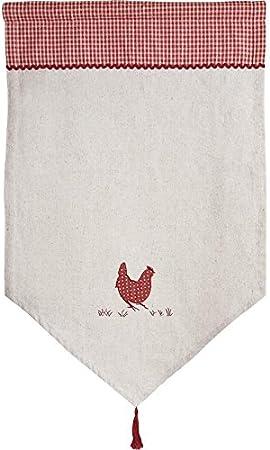 Rideau En Lin Et Coton Motif Poule Amazon Fr Cuisine Maison