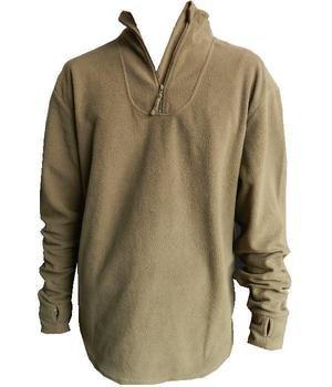 Norgi Top - Thermal Fleece Undershirt - Khaki  Used Grade 1 Genuine Army  Surplus