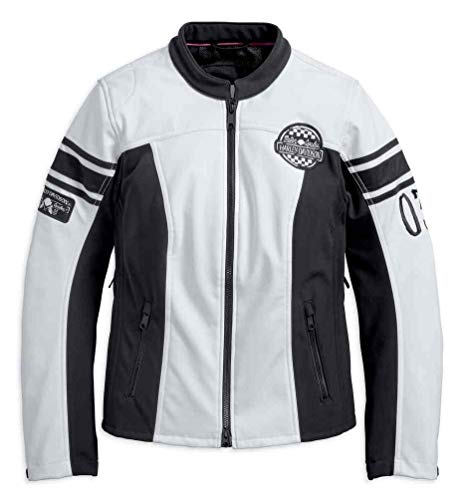 Harley-Davidson Women's Amelia Anne Soft Shell Riding Jacket 97107-18VW (XS) Black ()