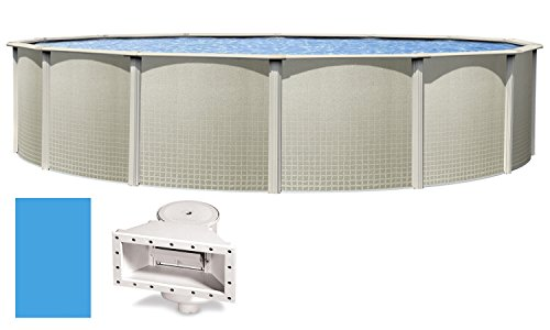 The Impressions 18' x 48' Round Swimming Pool with Liner & Skimmer