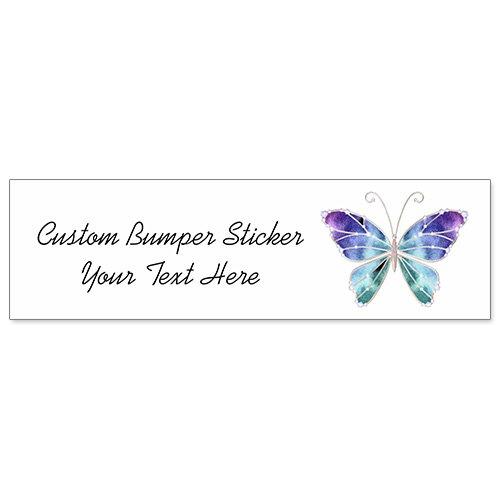 Car Bumper Sticker - Cool Sunglasses Rainbow Wings - Sunglasses Wing
