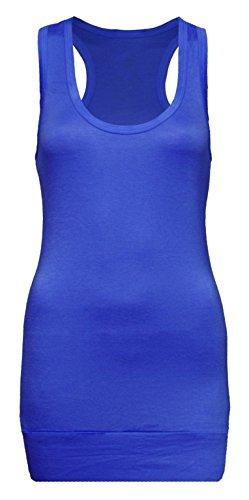 Camiseta tipo tank de mujer de tirantes compra 4y consigue 5–Camiseta–Top tank azul cobalto