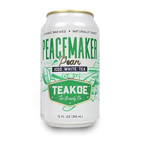 (TEAKOE Peacemaker Pear Tea | Raw Honey Tea w/Organic White Tea Leaves, Lemongrass & Chamomile | Non-GMO Vegan Tea | Naturally Sweet, Clean Energy Drink| Only 35 Calories (12/12 fl oz Tea Cans))