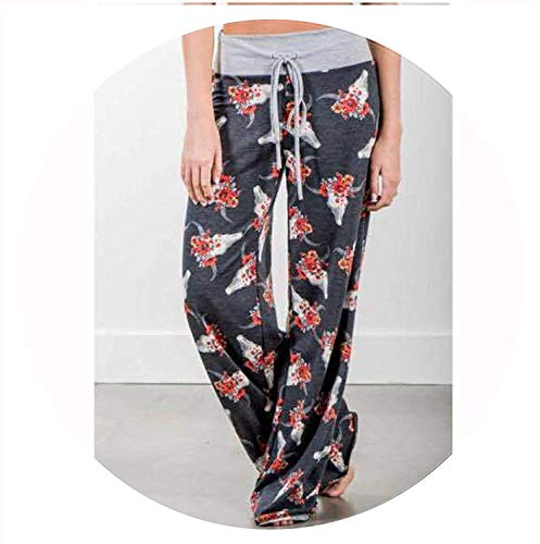 Women's Printing high Waist Loose Casual Wide Leg Pants Casual Pants,XX-Large,No.14suit (Jeans Sims 2)