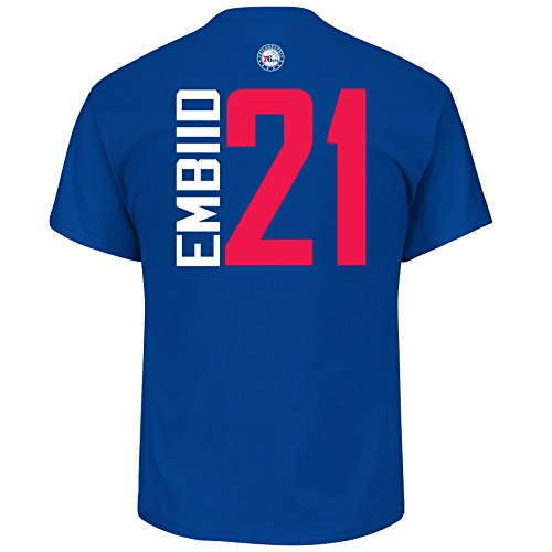 Joel Embiid Philadelphia 76ers #21 NBA Men's Vertical Player T-Shirt (Large)