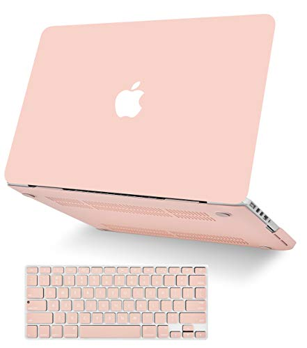 "KECC Laptop Case for Old MacBook Pro 13"" Retina (-2015) w/Keyboard Cover Plastic Hard Shell Case A1502/A1425 2 in 1 Bundle (Pale Pink)"