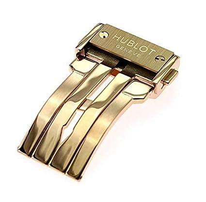 ROUHO Oro Negro Plata Hebilla De Acero Inoxidable para Hublot Big Bang-Oro Rosado-24Mm