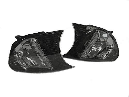 REVi MotorWerks Crystal Smoke Clip ON Corner Signal Lights by DEPO Fit 2000-2001 BMW E46 2D Coupe//Convertible M3