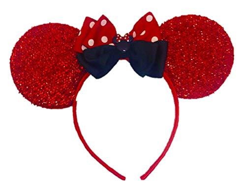 greatlildeal Mickey Ears, Christmas Minnie Ears,Holiday Mickey Ears, Xmas Christmas Ears, Disney Christmas Ears, -
