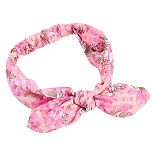 (Freedi Women Boho Headband Floal Style Head Wrap Elastic Hair Band Accessories (Style 5))