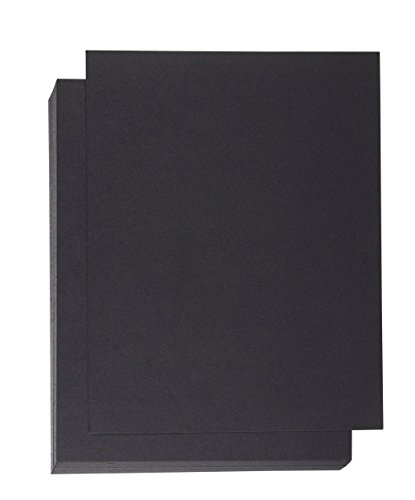 Binding Presentation Cover - 50-Pack Report Cover Paper, Letter Sized Cardstock Paper for Business Documents, School Projects, Un-Punched, 300GSM, Black, 8.5 x 11 inches by Best Paper Greetings
