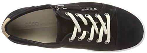 Ecco Donna Morbida Sneaker Zip Laterale Nera