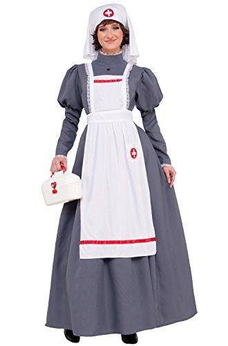Nurse Dress Costumes (American Civil War Nurse Costume Womens Dress Red Cross Barton Nightingale 14-16)