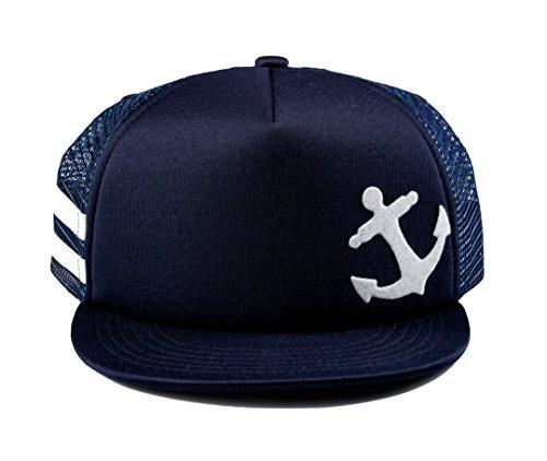 - Born to Love Baby Boy Infant Trucker Hat Snap Back Sun Hat - XS (43 cm 6-12 Months), Navy Anchor Hat