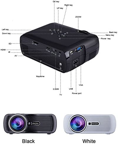 Everycom X7 WiFi Proyector de Android TV Beamer Miracast Kodi AC3 ...