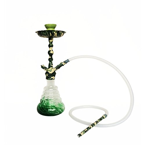 18.9 inch camouflage pattern hookah complete set shisha (green camouflage)