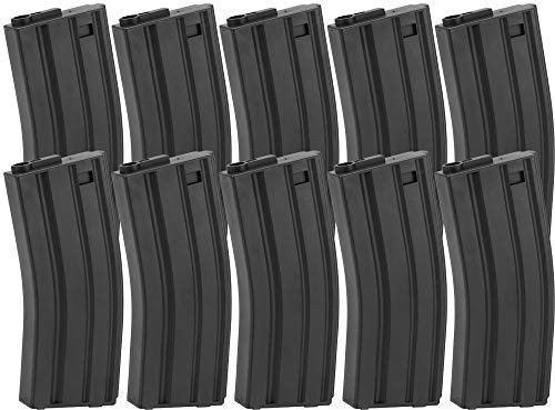 (Evike King Arms 120 Round Mid-Cap M4/M16 AEG Airsoft Magazine (Color: Black/Box of 10))