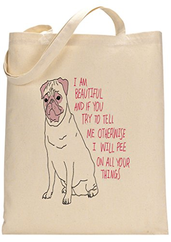 Pugs Are Beautiful Custom Made Tote Bag