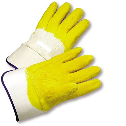 West Chester 3003 White Large Latex Work Gloves - Wing Thumb - 10.25 in Length - Rough Finish [PRICE is per DOZEN]