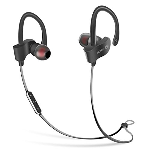 Price comparison product image Bluetooth Headphones,  AutumnFall Headphones,  Noise Cancelling Wireless Earbuds,  Sweatproof Sports Running Earphones,  Secure-Fit Headset w / Mic (Black)