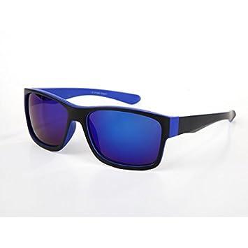 Sonnenbrille verspiegelt schmal blau x7Uefqkl