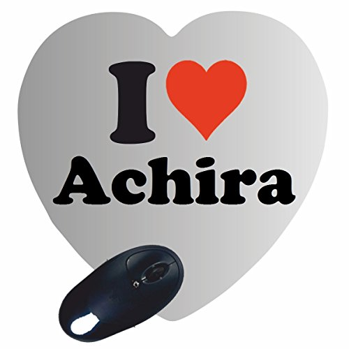 "EXKLUSIV: Heart Mousepad ""I Love Achira"" , a great gift idea for your partner, colleagues and many more!"