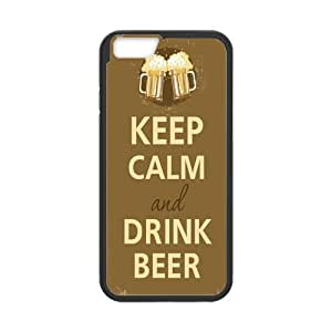 "Onshop Custom Keep Calm and Drink Beer Mugs Phone Case Laser Technology for iPhone 6 4.7"" by runtopwell"