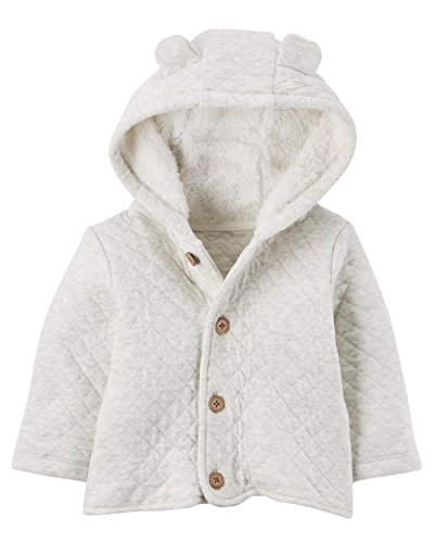 Quilted Hooded Jacket (Carter's Baby 3M-24M Hooded Quilted Jacket 3 Months)