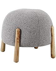 Ottomanen Planken Benen Antislip Sofa Kruk Houten Kruk Ottomaanse Seat-Moderne Eenvoud Lazy Sofa Kruk Zacht En Comfortabel Household,Grijs
