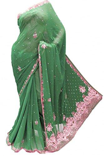 Gorgeous Green Saree - 3