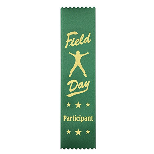 Field Day Participant Ribbons: 100 Count Value Pack Metallic Gold foil Print - Made in The USA]()