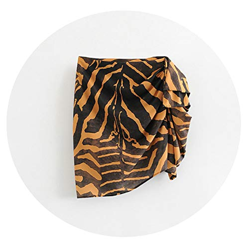 - Tangada Women Animal Print Chiffon Skirt Pockets Asymmetric Ladies Elegant Shirts,Animal Print,S
