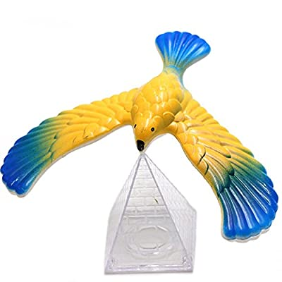 Wenini Balancing Eagle Toy - Amazing Balancing Eagle with Pyramid Stand Magic Bird Desk Toy Fun Learn Kids' Gift (Multicolor): Toys & Games