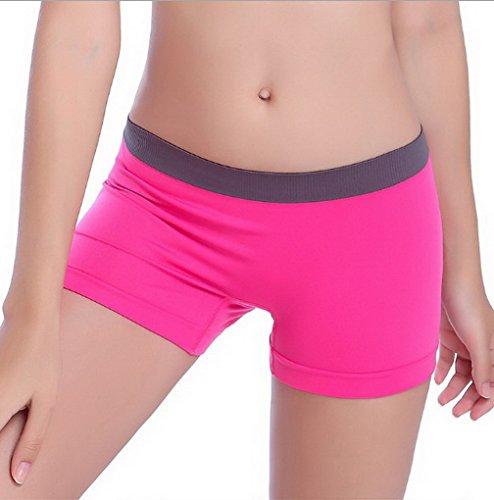 deportivos Pantalones Bodycon 9 Footing Rosa Ciclista Yoga Short Rojo Acme colores cortos Stretch Fit qznRw