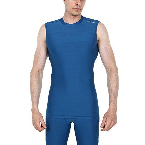 - OUTOF Men's Muscle Tank Sleeveless T-Shirts Baselayer Cool Dry Compression Top Running Yoga Rashguard MTN7417-2XL-RVS