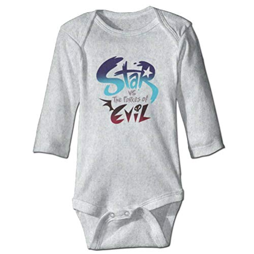 SHUNLEI Baby Infants 100% Cotton Long Sleeve Onesie Toddler Bodysuits Star Vs. The Forces of Evil Logo Baby Onesie (Star Vs The Forces Of Evil 18)