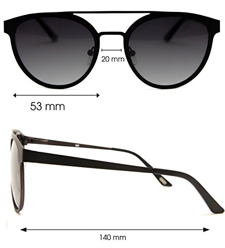 nowave Verano sol caterogia 3 Moda Gafas gris de Polarizadas 2019 Doble Puente q11zwr