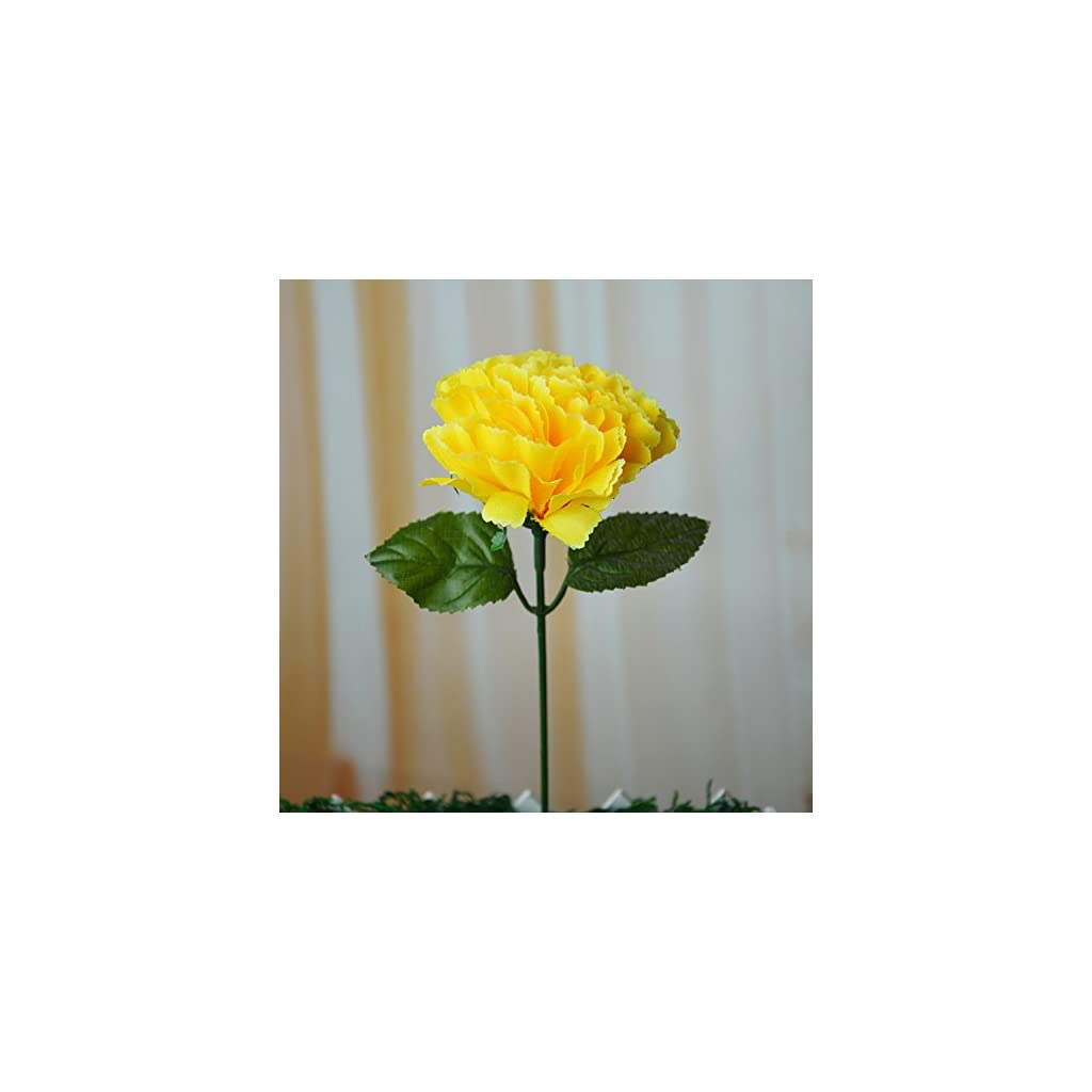 Happy Life 100 Carnations 4 Artificial Silk Flowers Pick Yellow